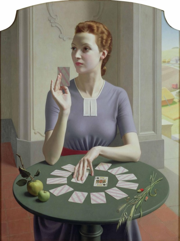 Meredith Frampton's A Game of Patience (1937)