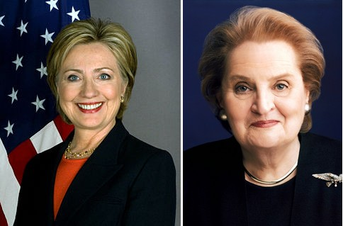 Hillary Clinton and Madelaine Albright