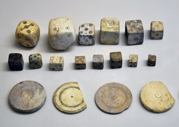 Dice from ancient Rome