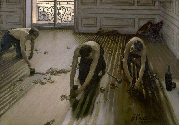 Gustave Caillebotte, Les Raboteurs de parquet (1875).