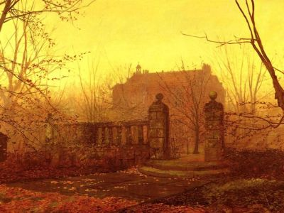 Autumn Morning by John Atkinson Grimshaw