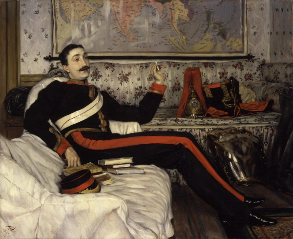 Frederick Gustavus Burnaby by James Tissot (1870)
