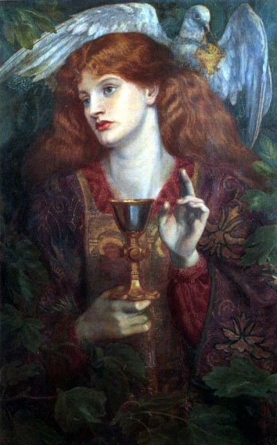 Dante Gabriel Rosetti, The Damsel of the Sanct Grael (1874)