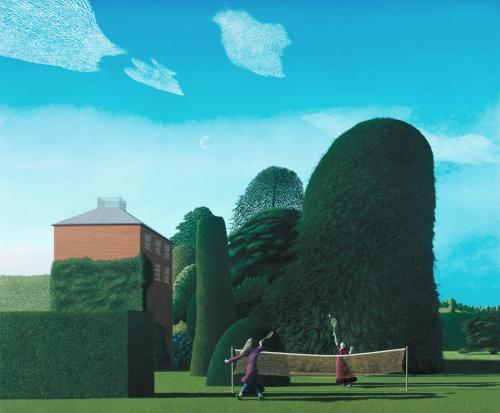 The Badminton Game by David Inshaw